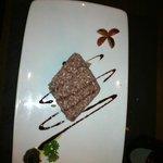 Risotto brunello e salsa di olive