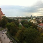 View from the tower in the Wawel Castle