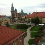 View of the Wawel castle grounds from the tower
