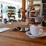 Cappuccino à la boutique