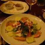 excellente salade  au saumon fumé