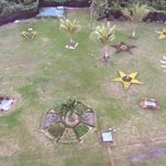 view of garden area from our balcony