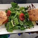 Panini and salad