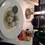 Primo piatto = Riccota+Ruccola balls in Clear Butter+Salvia