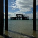 What is left of the pier