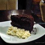 Dark chocolate  and cream....mmmmmmm!