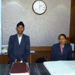 Receptionists Mr.Manjit Singh and his wife