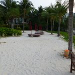 The resorts own private beach