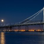Harvest Moon Over The New Bay Bridge