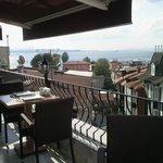 La terrazza per la prima colazione vista Mar di Marmara