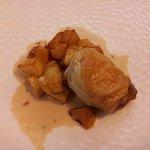Gras de cuisse de volaille farçie, sauce au poivre de java