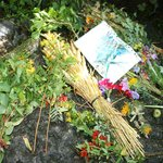 Lammas Offerings within the Mill ruins (placed on 1st or 2nd Aug)