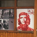 """Interesting decor showing various """"leaders"""" over the years"""