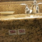 stickers on sink