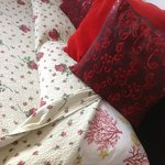 cojines de la cama
