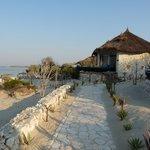 Villa and beach