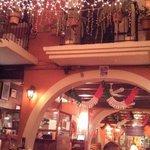 Dinner under the lights inside Rolandi's