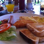 family room - complimentary a la carte breakfast for 3.