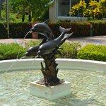 Fountain at 100m milestone