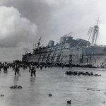 Le SS President Coolidge le 26 octobre 1942 juste avant de couler...
