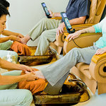Wonderfull massage chair as a get a great pedi