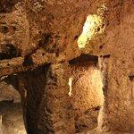 mysterious masks found inside of Celtic Hypogeum