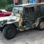 parked at Hazelhurst Pub - Vietnam Vet Keith's Jeep 5900 miles