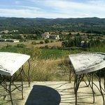 Table d'orientation sur la colline voisine