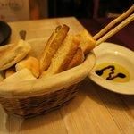gratis mandje brood met olijfolie