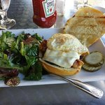 bacon egg and cheeseburger