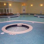 Our Heated Indoor Pool with 2 Hot Tubs