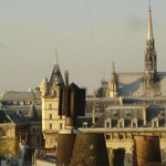 View from roof: Sainte-Chapelle and Palais de Justice