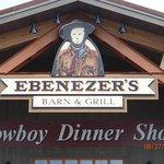 Ebenezer's Barn & Grill - Across the street, dinner & show