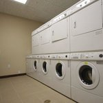 Our complimentary laundry facility is open 24 hours