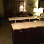 A view of the living/kitchenette