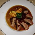 succulent duck breast with loganberry