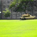 Tank on parade ground