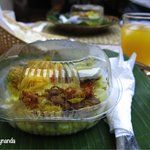 Nasi Kuning, served as breakfast