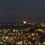 Moonrise, over Chania, seen from Vigli