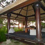 private sala with sunset view