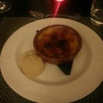 Raspberry creme brulee. delicious.