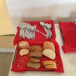 bread to serve 200 people aswell dirty knives forks & spoons never washed