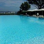 Famous swimming pool of The Kube Saint Tropez