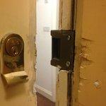 Door has been jemmied at sojke point in the past