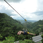 Beautiful views from the zipline