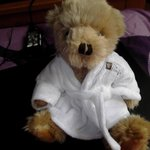 The teddy we bought from the Gables hotel for 6 pound