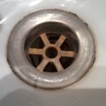 Dirty sink plughole