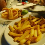 frittura di calamari e patate