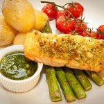 Salmon & herb crust
