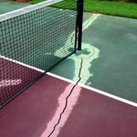 The tennis facilities are in need of serious repairs. Very dissappointed in our visit.